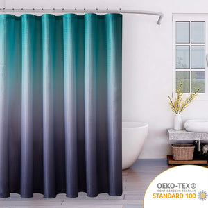 Open image in slideshow, Ombre Textured Fabric Shower Curtain