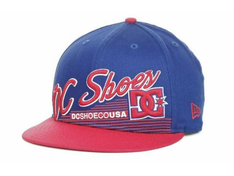 DC Shoes New Era 9Fifty Scripto Snapback Flatbill Hat Cap Shoe Red White Blue