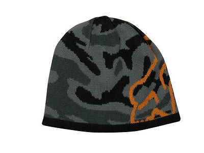 Fox Racing Blamo Reversible Camo Camouflage Beanie Knit Hat Chullo Cap NEW