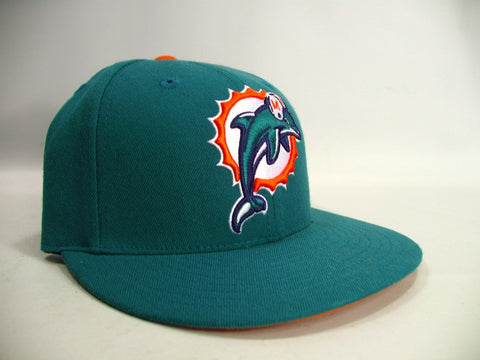 Miami Dolphins NFL Mitchell & Ness Throwback Flatbill Hat Cap 7 Fitted NWT