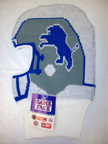 Detroit Lions Vintage NFL Game Face Knit Helmet Hat Ski Mask