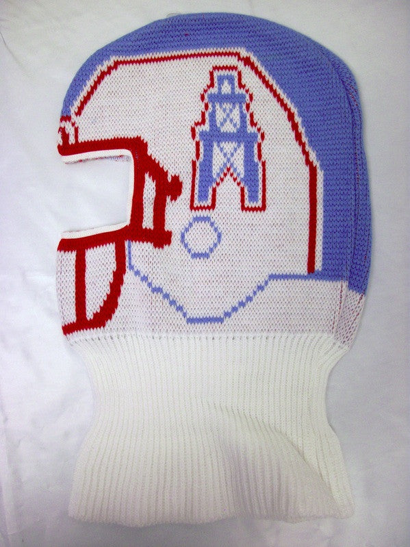 c64241f6a Houston Oilers   Tennessee Titans Vintage NFL Game Face Knit Helmet Hat Ski  Mask