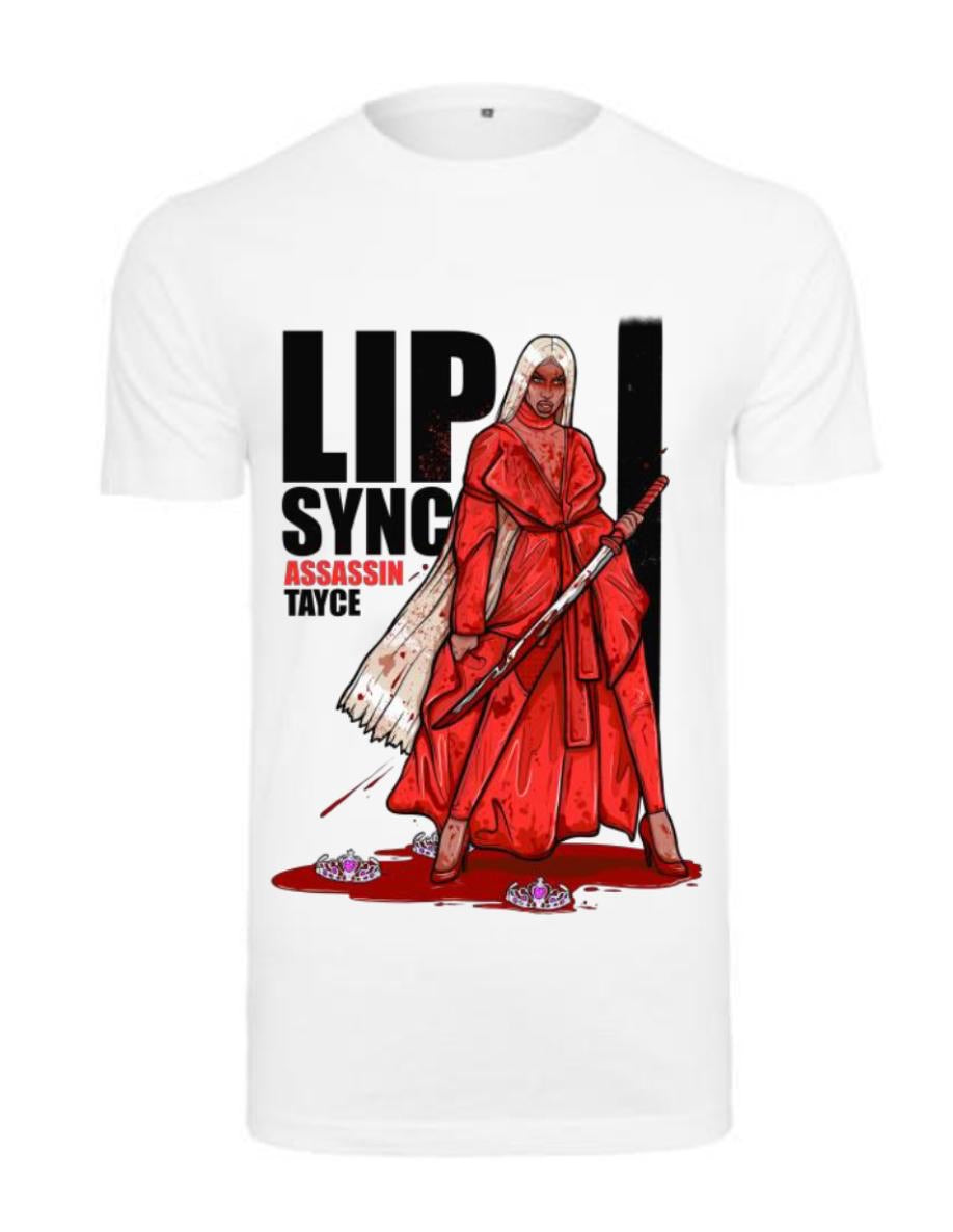 TAYCE Lip Sync Assassin Tshirt - White