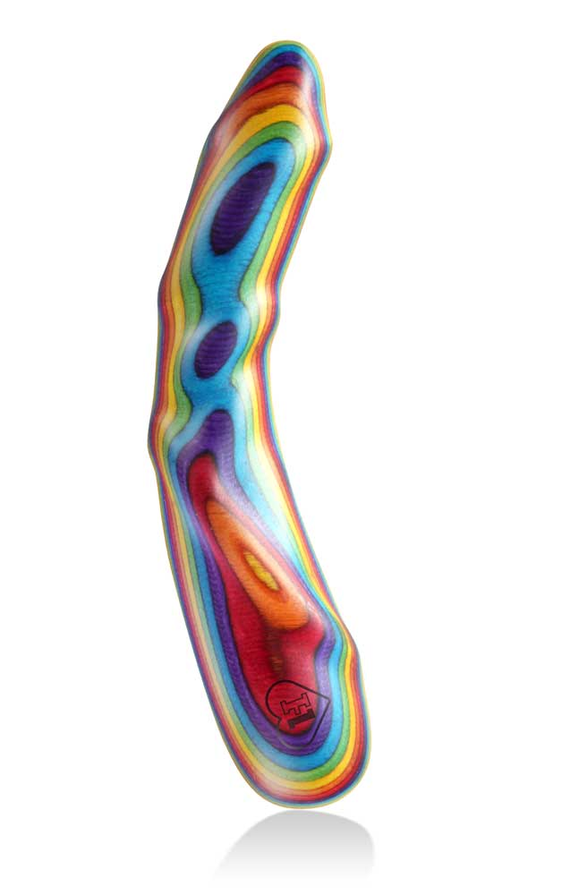 LUSTHOIZ MODEL ONE G-Punkt Wooden Dildo - Edition Pride