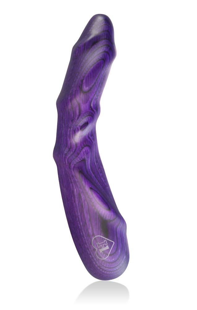 LUSTHOIZ MODEL ONE G-spot wooden dildo - Mrs. Purple