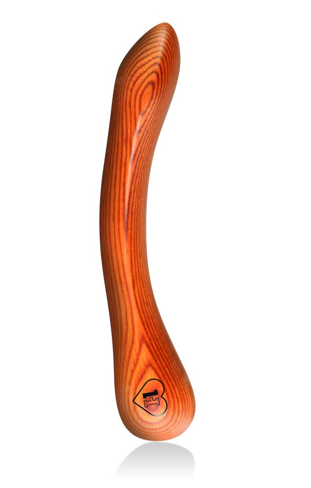 LUSTHOIZ MODEL TWO G-spot wooden dildo - Mrs. Orange