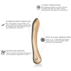 lustHOIZ MODEL TWO G-Punkt Holzdildo - Mr. White