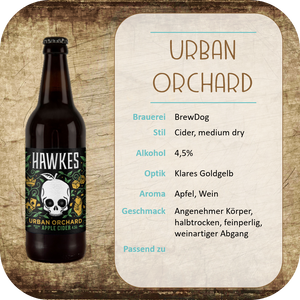 Hawkes Urban Orchard Med. Dry - 0,5l