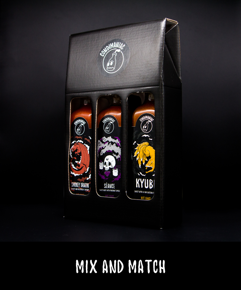 Condimaniac Sauce Gift Set (220ml x 3) Mix & Match