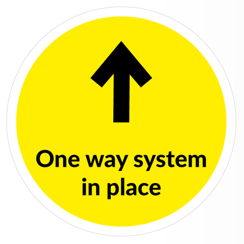 One Way System Arrow Floor Sticker