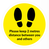Footsteps & Social Distance Floor Sticker