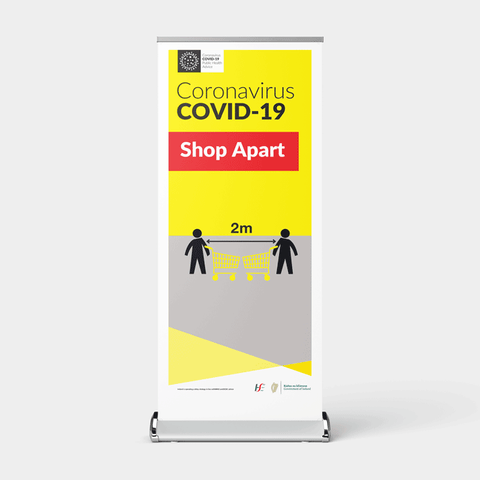 'Shop Apart' Pull-Up Banner for Retail & Supermarkets