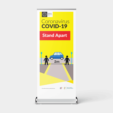 'Stand Apart' Pull-Up Banner for Premises & Businesses