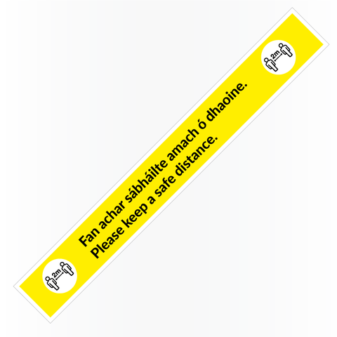 'Keep a Safe Distance' Floor Sticker