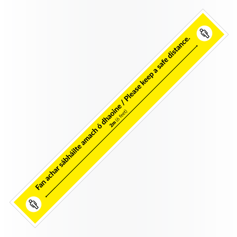 2 Metre Indicator Floor Sticker