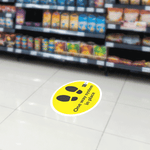 One Way System Footsteps Floor Sticker