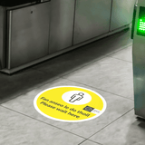 'Please Wait Here' Floor Sticker