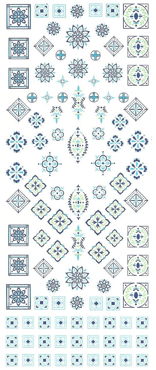 Hacienda Tiles - Water Transfer Decals