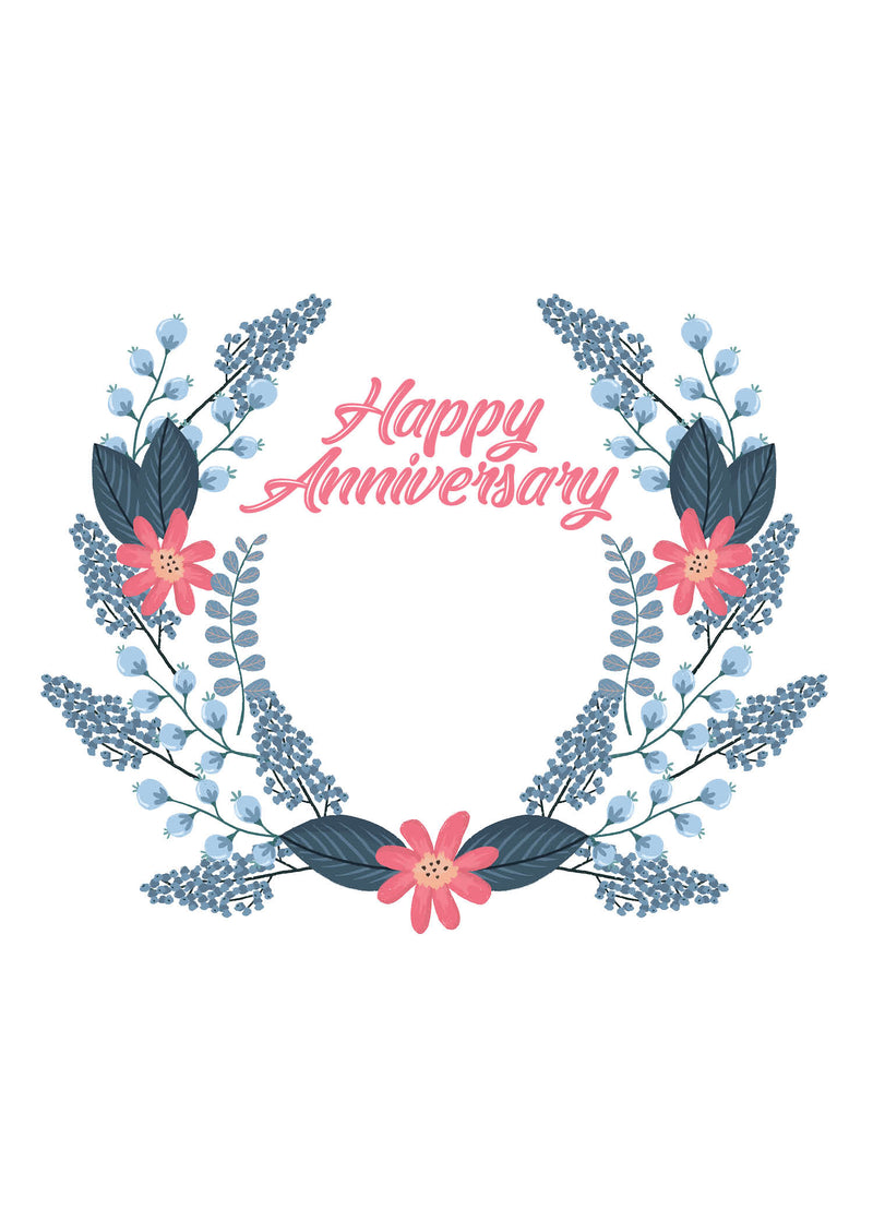 Happy Anniversary Wreath