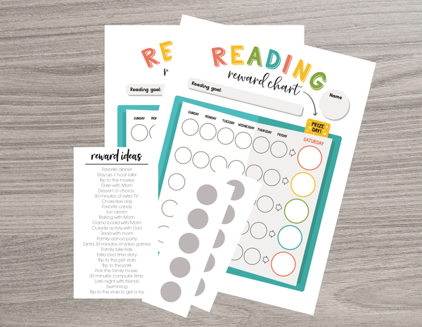 Scratch OFF Reading Chart