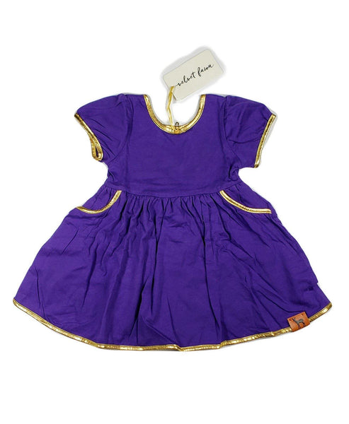 Tailgate Swoop Dress (Purple and Gold)