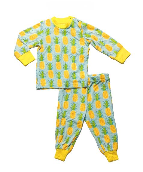 LS PJ Set w/ pants (Blue Pineapples)