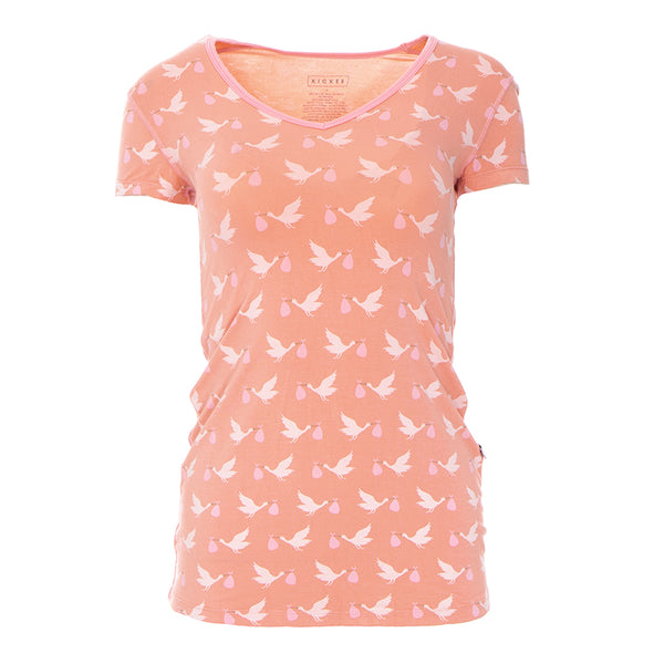 Women's SS One Tee (Blush Storks)