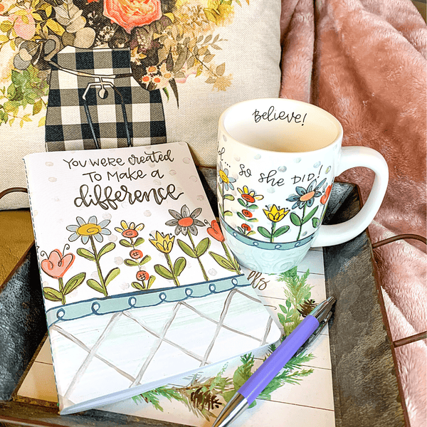 NEW! Encouraging Mug & Journal Companion Gift Set