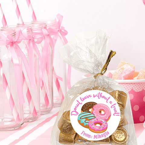 NEW! Personalized Girls Birthday Party Stickers & Treat Bags