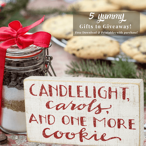 Holiday Cookie Sparkly Box Sign FREE BONUS