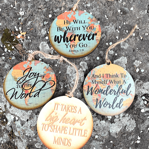 Rustic Cottage Promise of Hope Ornaments - Handcrafted