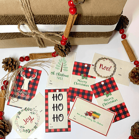 Farmhouse Buffalo Holiday Gift Tags