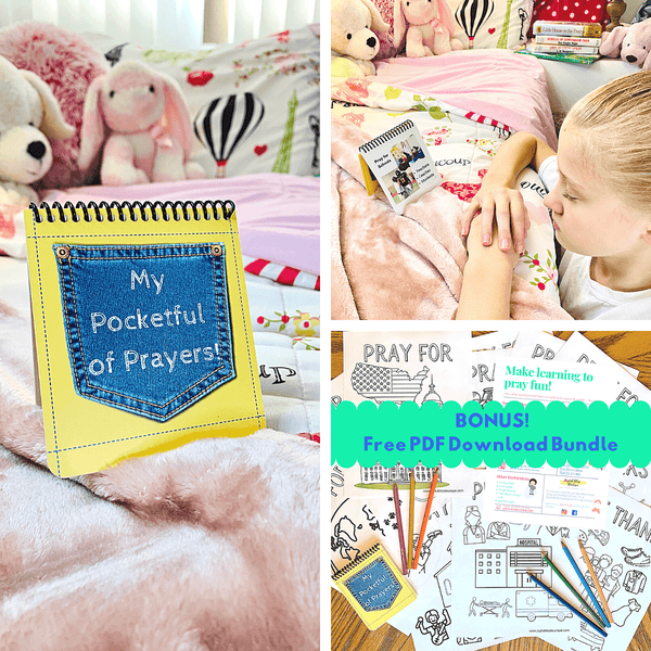 Kids Meaningful Pocket Prayers GIFT BUNDLE