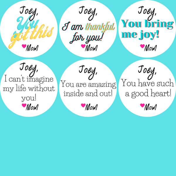 Personalized Positive Self-esteem Booster Stickers