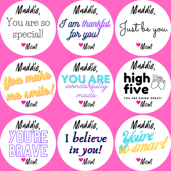 NEW! Personalized Positive Self-esteem Booster Stickers