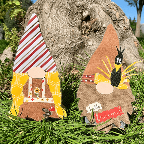 Fall Holiday Gnome Couple Handcrafted USA