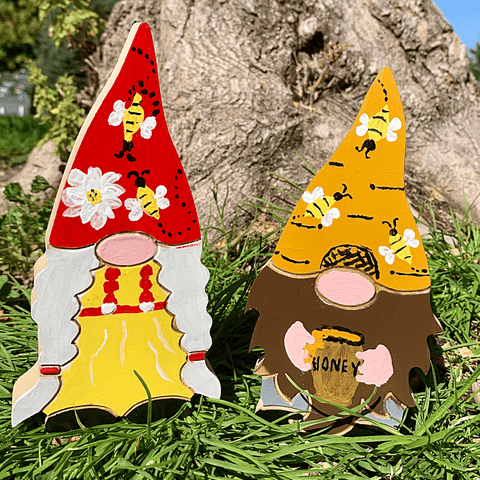 NEW! Summer Holiday Gnome Couple Handcrafted USA