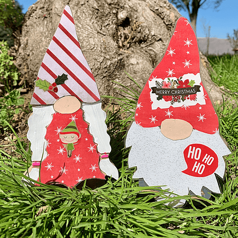 Winter Holiday Gnome Couple Handcrafted USA
