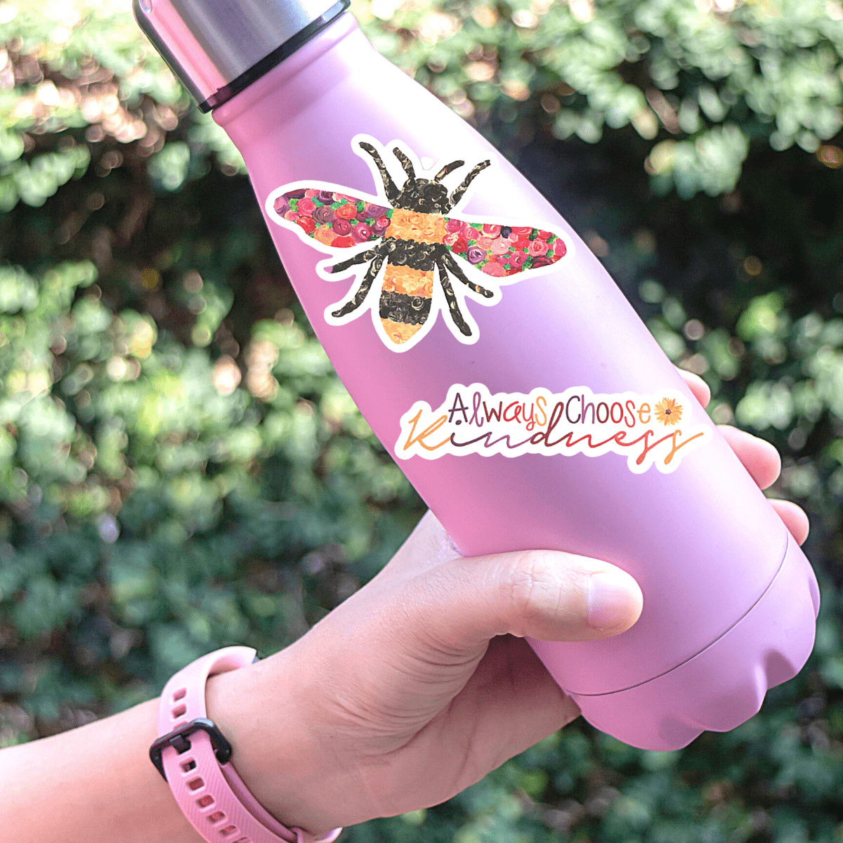 NEW! Trendy Stickers Water Bottle / Laptop - Waterproof Hand Painted