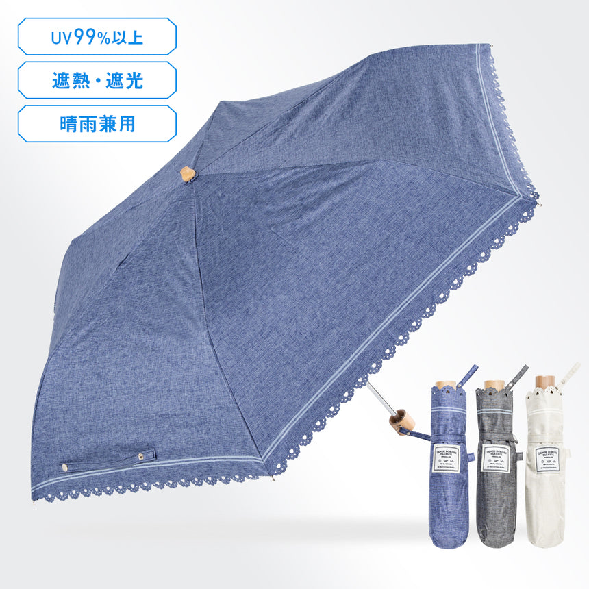 Denim Border Parasol