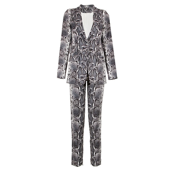 Snake Pattern Women's Suit - Jance Samantha Beauty & Fashion