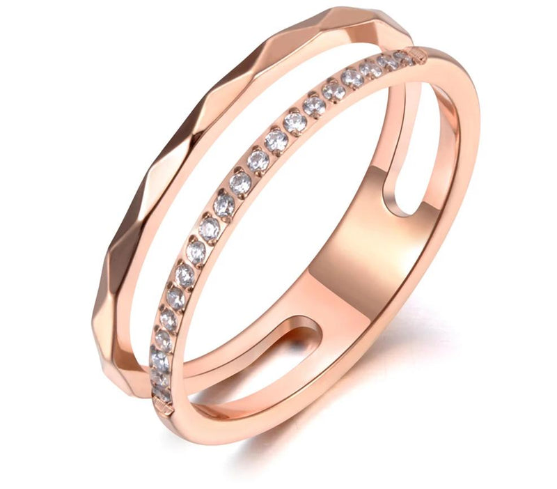Trendy Mosaic CZ Crystal Rose Gold - Jance Samantha Beauty & Fashion