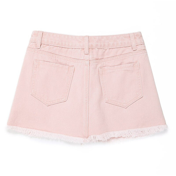 Button Up Micro Mini Short Skirt - Jance Samantha Beauty & Fashion