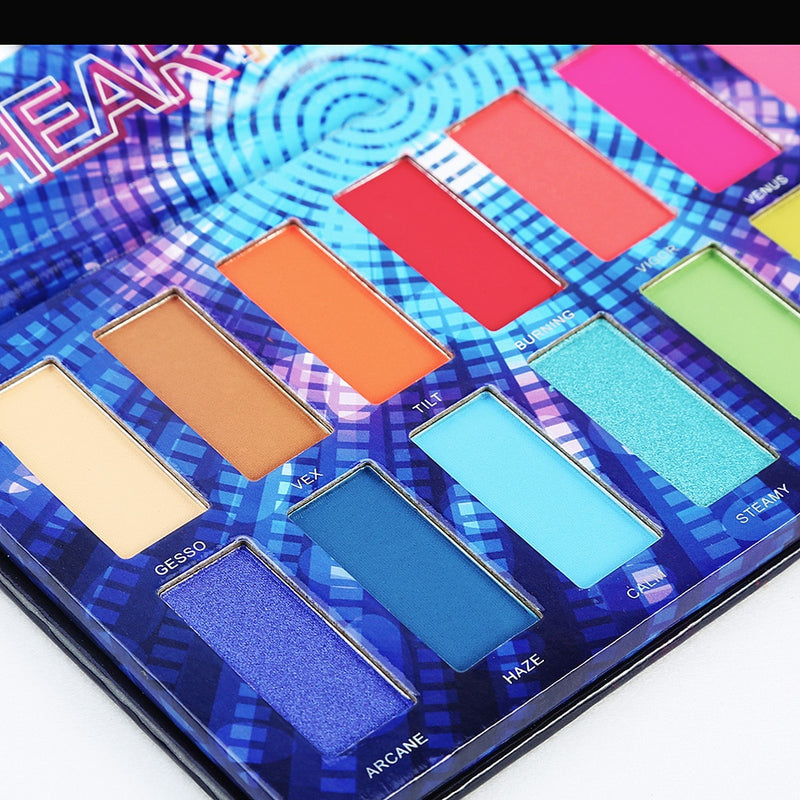 16 Color Neon Pigment Eyeshadow Palette - Jance Samantha Beauty & Fashion