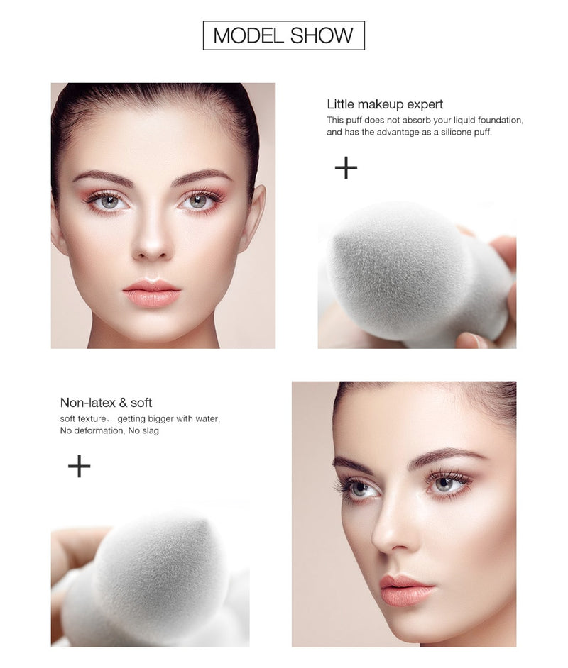 Microfiber Fluff Surface Foundation Sponge - Jance Samantha Beauty & Fashion