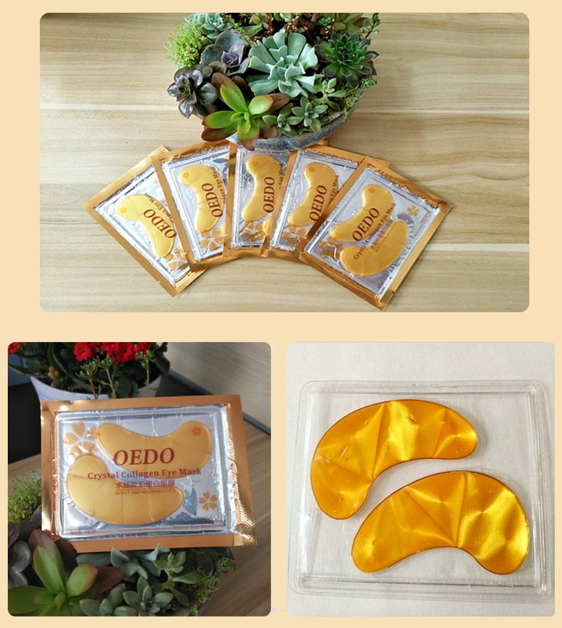 Gold Crystal Collagen Eye Mask - Jance Samantha Beauty & Fashion