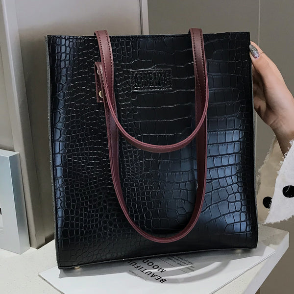 Fashion Crocodile Pattern Handbag - Jance Samantha Beauty & Fashion