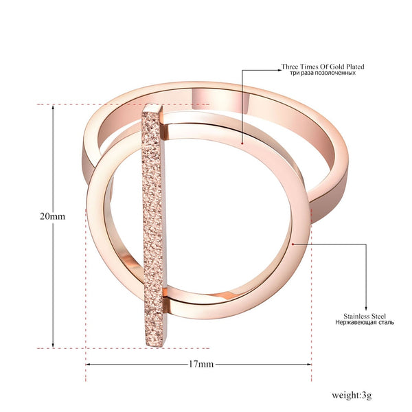 Rose Gold Fashion Design Stainless Steel Ring - Jance Samantha Beauty & Fashion
