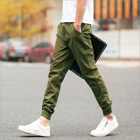 Men's Trousers Slim Pants for Male Casual Feet Trouser - Jance Samantha Beauty & Fashion