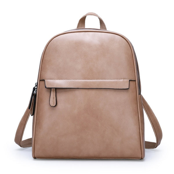 Fashion Zipper Women Backpack High Quality Leather - Jance Samantha Beauty & Fashion